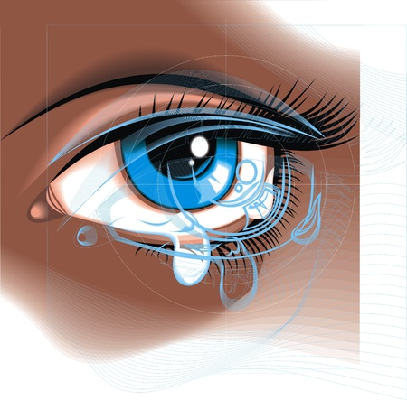 blue eye with the clear water drop Stock Vector - 19556537