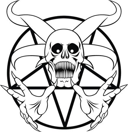 五芒星 - 白と黒の地獄の署名