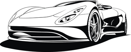 car tuning: My original sport car design in black and white