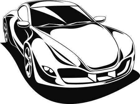 roadster: My original sport car design in black and white