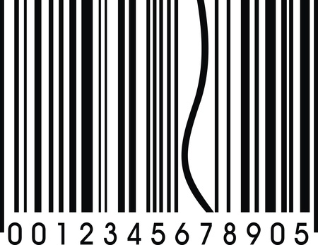 funny barcode with one error as nice background Vector
