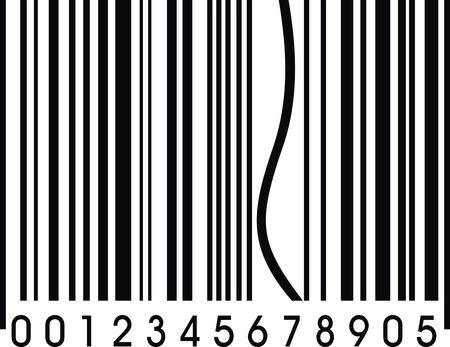 mooie achtergrond: grappig barcode met een fout als mooie achtergrond