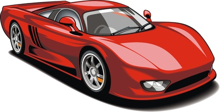 red sport car  my original design  isolated on the white background