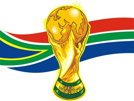 south africa soccer theme isolated on white background Stock Vector - 19565855