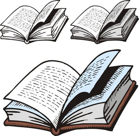 mooie open woordenboek geïsoleerd op witte achtergrond
