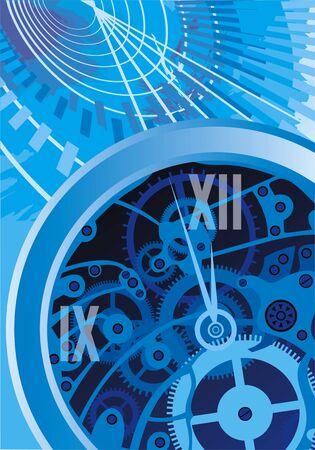 abstracte klok machine zo mooi blauwe achtergrond
