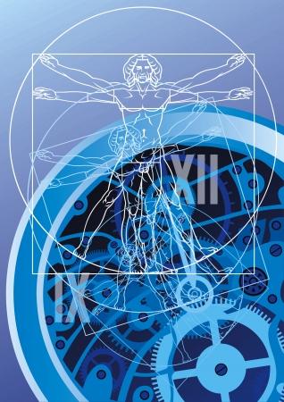 símbolo agradable tiempo en el fondo azul