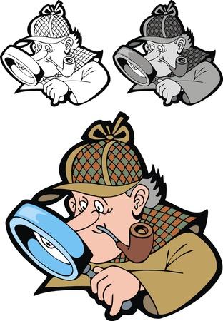 nadzór: ładne Sherlock Holmes na białym tle