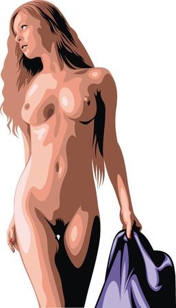 naked girl: naked girl isolated on the white background