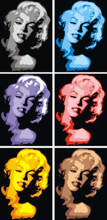 monroe: Marylin Monroe in different colors as art background