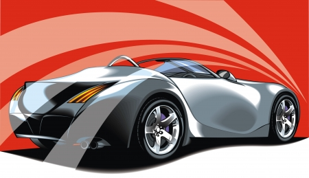 exotic car: illustrated nice car from my dream as background