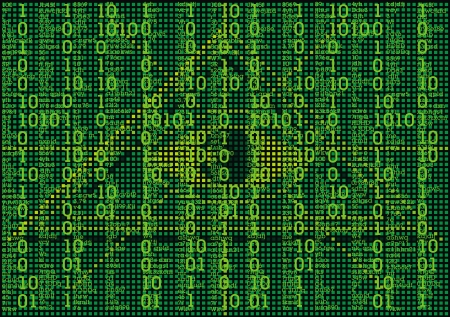 cryptogram: illustrated interesting matrix as a nice scifi background