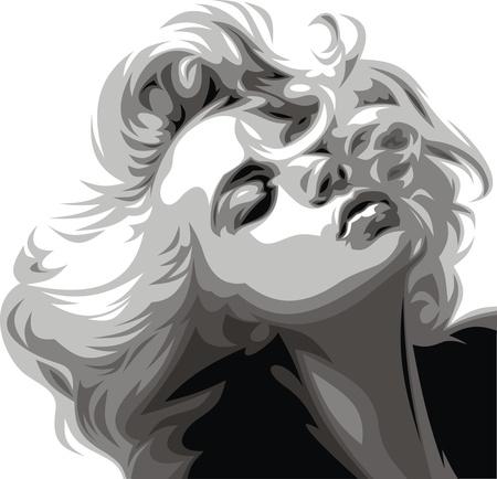 illustré belle fille de mon rêve comme toile de fond