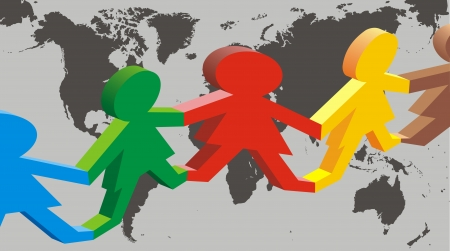 illustré belle société multiculturelle comme toile de fond intéressante
