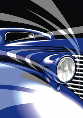 exotic car: my original car design in blue as background