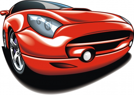 my original car design in red as background Vector