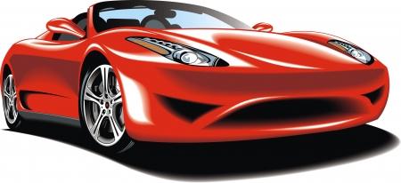 exotic car: my original sport car design in the red color
