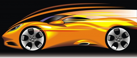 my original sport car design in the yellow color Vector