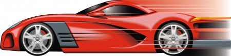 Ma conception de la voiture de sport originale dans le rouge Banque d'images - 20104468