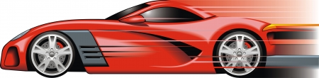 my original sport car design in the red color Vector