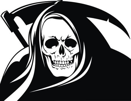 deces: la mort comme personne isol�e sur fond blanc