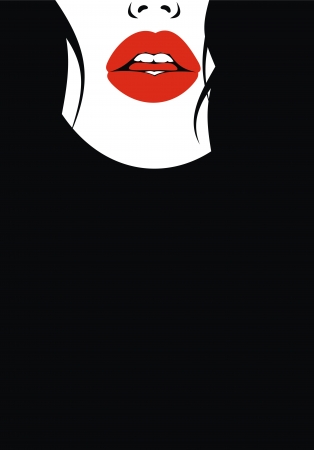 very nice lips  from my dreams on the black background