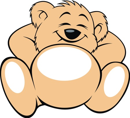 nice baby bear isolated on white background Vector