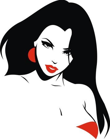 hezk�: velice pěkná dívka z mých snů izolovaných na bílém pozadí Ilustrace