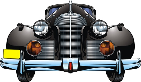 nice old car isolated on white background Stock Vector - 20104624