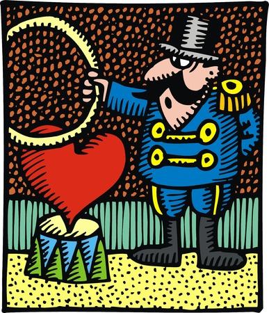mooie achtergrond: geïllustreerde liefde en de mens als mooie achtergrond