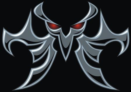 cripta: scuro simbolo diavolo su sfondo nero Vettoriali