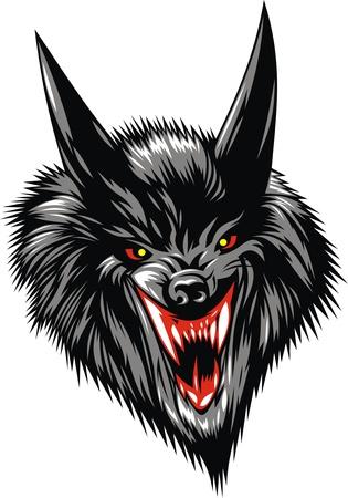 garra: lobo agradable diablo aislados sobre fondo blanco