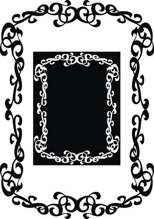 moder: nice vintage frame isolated on white background