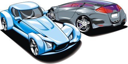 roadster: my original sport cars design isolated on the white background