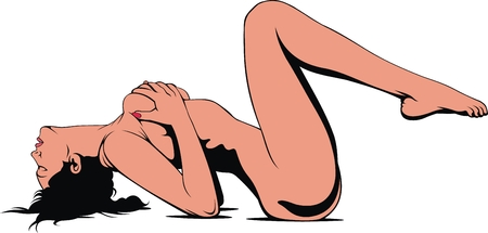 sexy woman from erotic dream isolated on the white background Illustration