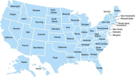 素敵なアメリカ地図上分離ホワイト バック グラウンド