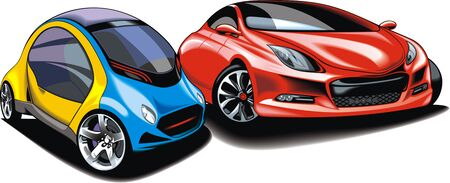 sport cars isolated on the white background Vector