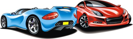 original design: sport cars (my original design) isolated on the white background Illustration