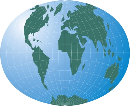 nice world map isolated on white background Stock Vector - 26339391