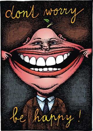 Dargestellt glücklicher Mann als interessante Farbe Hintergrund Standard-Bild - 26459540