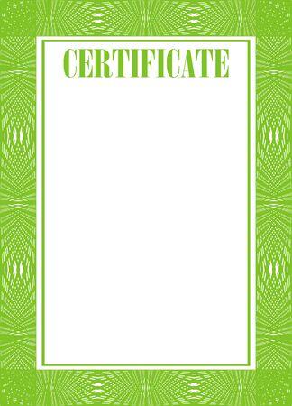Zertifikat Rahmen isoliert auf den weißen Hintergrund Vektorgrafik