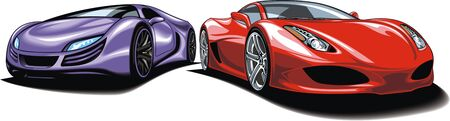 original design: my original design sport cars isolated on the white background