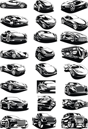 exotic car: black and white my original designed cars collection