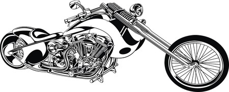 throttle: my original motorbike isolated on the white background