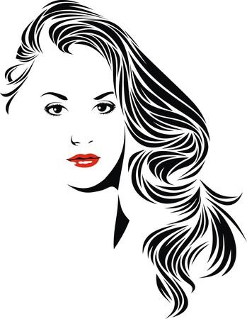 흰색 배경에 내 꿈에서 격리 좋은 여자 스톡 콘텐츠 - 37930248