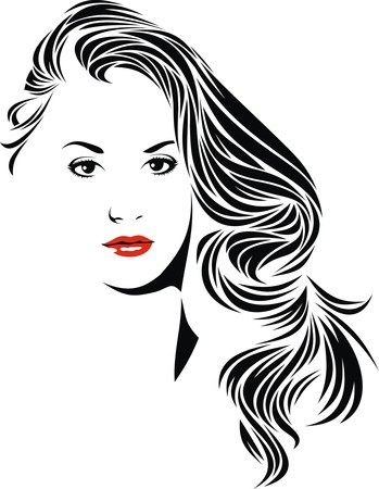 nice girl isolated from my dream on white background