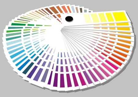 sampler: color palette isolated on the white background