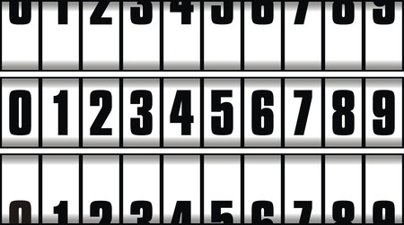 easy numbers isolated on the white background Vector