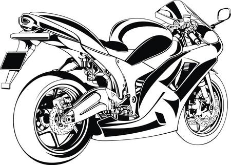 throttle: my original motorbike design on the white background Illustration