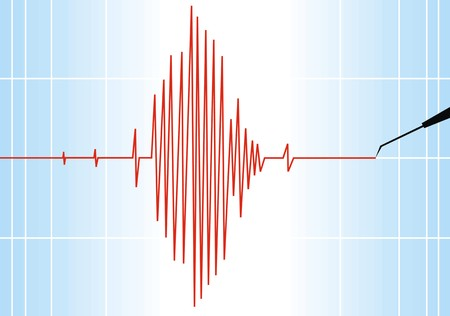 seismograph paper as nice alert scientific background Vector